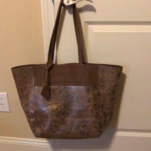 Anthropologie Bronze bag